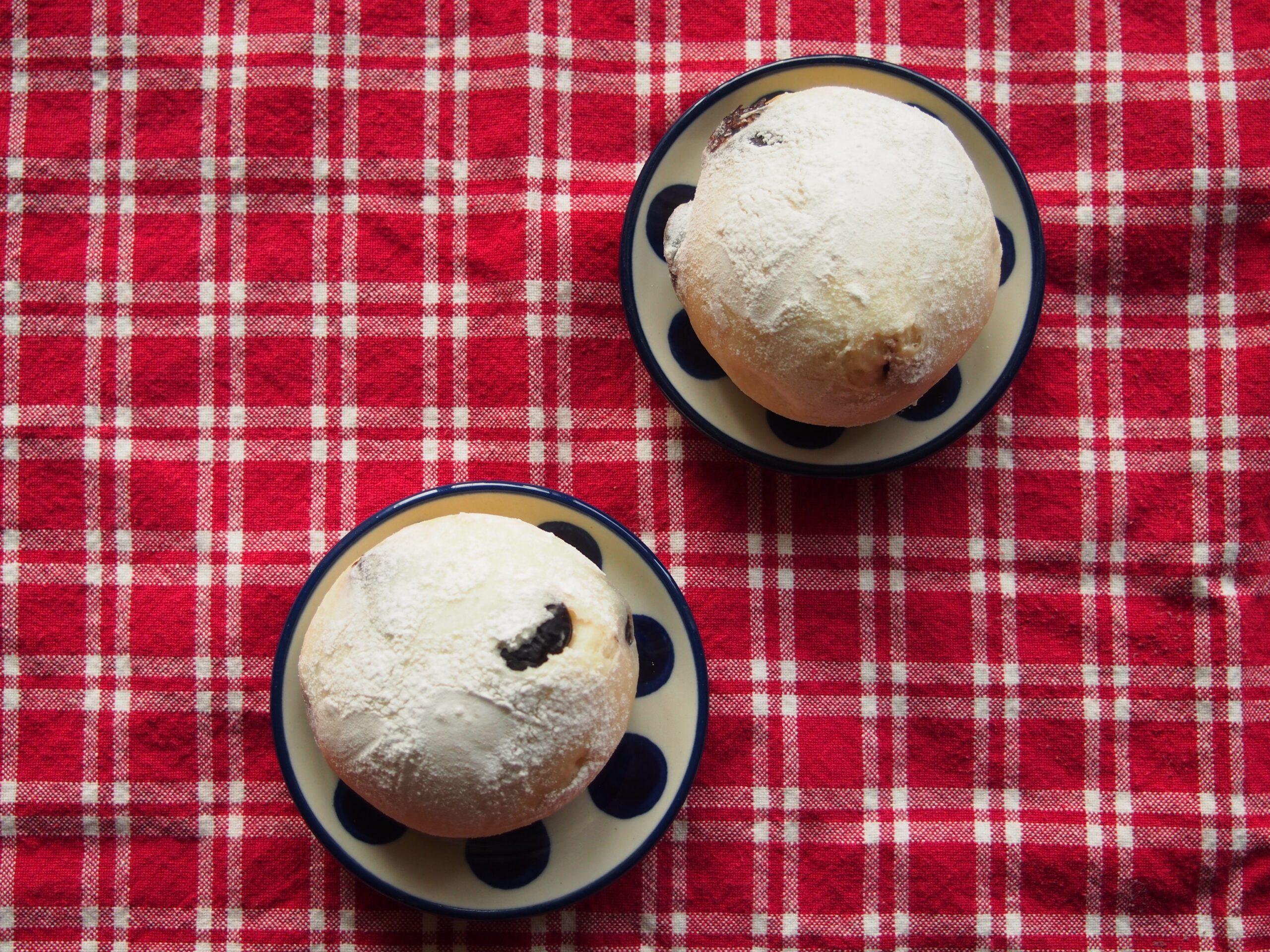 白玉粉入りのもちもち豆パン
